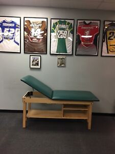 Exam Treatment Table With Adjustable Backrest Shelf And Bench