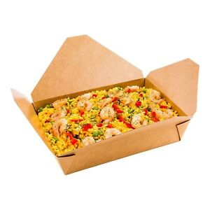 Disposable Take Out Container 2 To Go Box Eco friendly Paper Rectangle