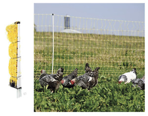 Poultry Electric Chicken Net Fence Goat Sheep Pig Outdoor Fencing Large Cage 48
