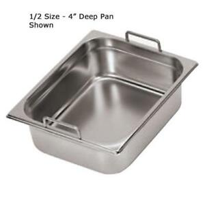 World Cuisine 14115 15 Half Size 6 In Deep Steam Table Pan