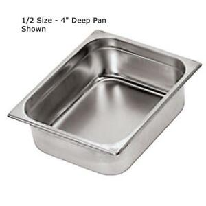 World Cuisine 14104 15 Half Size Long 6 In Deep Steam Table Pan