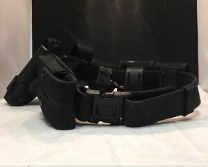 Bianchi Nylon Police Belt W Uncle Mike s Sidekick 21 Holster 5 Nylon Pouches