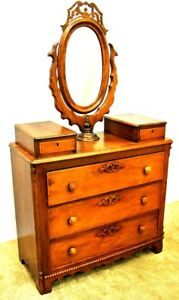 Antique American Single Mirror Dressing Table
