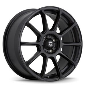 18x8 Konig 41b Runlite Black Wheels Rims 35 5x100 Qty 4
