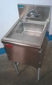 Commercial Single Ss Under Bar Sink Bar Hand Sink Dump Station Our 1