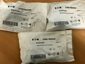 Eaton Cutler hammer E22hv2x4 Ser B1 Red Indicating Light 24vac dc lot Of 3