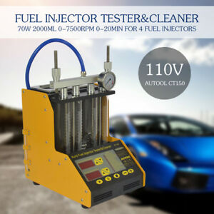 New Autool Ct150 Ultrasonic Gasoline Fuel Injector Cleaner Injection Tester