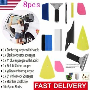 Professional 8 In 1 Car Window Film Tools Squeegee Scraper Set Kit Car Tint Us