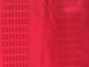 Red Bride Fabric Racing Seat Cover Door Panel Decoration Material Jdm 2m X 1 6m