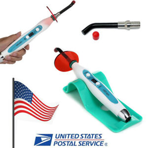 Dental Denshine 5w Wired Wireless Noiseless Led Curing Light Cure 2000mw 2 Tips