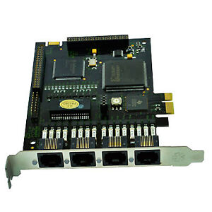 Digium Te420p Pcie 4 Port T1 e1 j1