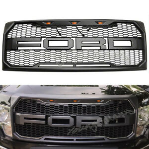 Fits 2009 2014 Ford F150 Front Grill Raptor Style Conversion Gray F