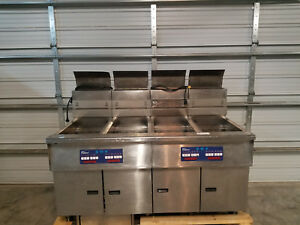 Pitco Frialator 4 Bank Deep Fat Fryer 14rs cotvza Natural Gas Tested