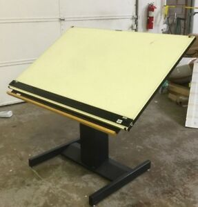 Mayline Drafting drawing Table Up Down Electric Tilting 37 5 X 60