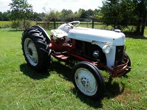 Vintage Ford 8n Farm Tractor Red Belly 2wd Gas Runs And Works