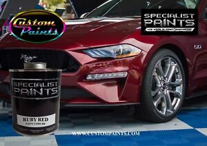 Gallon Kit Of Ford Ruby Red Paint Motorcycle Automotive Hok Ppg