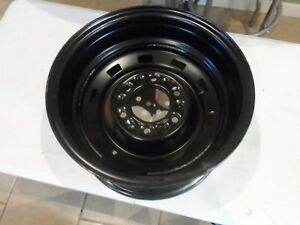 Nos 81 87 Chevy Truck Suv 6 Lug Truck Black Rally Rim 15x8 Hot Rod 14055217 Sk