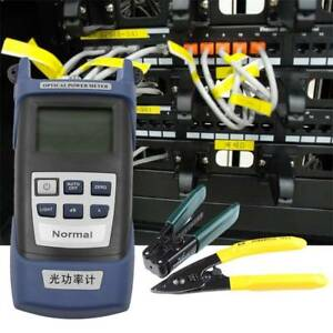 Fiber Optic Ftth Tool Kit With Fc 6s Fiber Cleaver And Optical Power Meter 5km