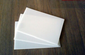 3mm Polypropylene Sheet White 600mm X 600mm Plastic Engineering Material