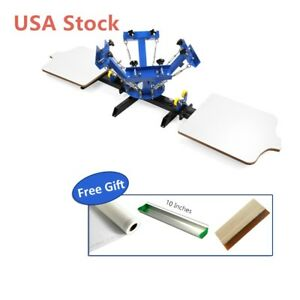 Usa 4 Color 2 Station Silk Screen Printing Machine 4 2 Press Diy T shirt Printer