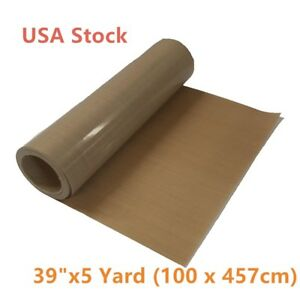 Usa 39 X 5 Yard Teflon Fabric Sheet Roll 5mil Thickness For Sublimation Printer