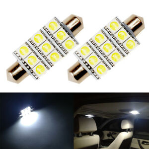 2 X White Led Interior Map Dome Trunk Lights 42mm 578 211 2 212 2 Festoon Bulbs