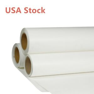 Usa 24 x5 Yard Roll White Color Printable Heat Transfer Vinyl For T shirt Fabric