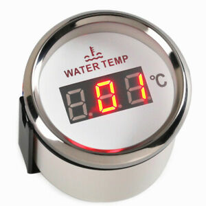 1pc Digital Water Temp Gauges 52mm Water Temp Meters 40 120 For Auto Boat White