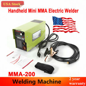 Handheld Mini Mma 200 Electric Welder 110v Inverter Arc Welding Machine Tool New