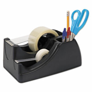 Officemate Recycled 2 in 1 Heavy Duty Tape Dispenser 1 And 3 Cores Black