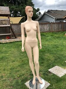 Full Body Mannequin Female Realistic Ceramic Dress Form Adjustable Removable