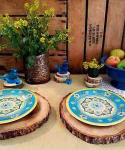 8 Wood Slices Slabs 12 14 Placemat Farm Table Decor Kitchen White Oak Rustic