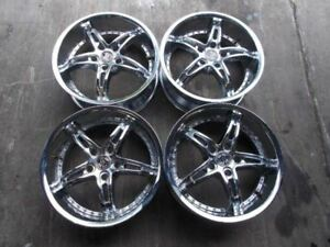 Set Of Four 18 Rims 18 Inch Wheels 18x7 5 2crave No 14 Chrome Nice 5x120