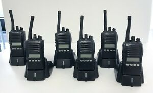 Used Vertex Standard Vx 354 g7 Uhf Portable Two way Radios Six Radio Bundle