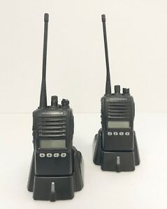 Vertex Standard Vx 354 Uhf Portable 2 way Radios W whip pair