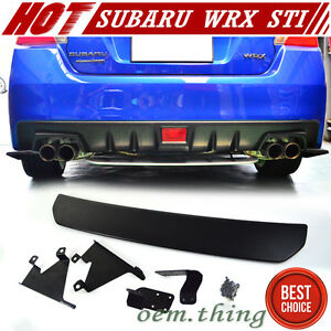 Stock Usa Unpaint For Subaru Wrx Sti Sedan Diffuser Under Lip Spoiler 2019