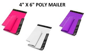 4 X 6 Shipping Envelopes Poly Mailers Self Sealing Mailing Bags Plastic Colour
