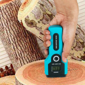 Digital Led Wood Moisture Meter Humidity Tester Sensor Timber Damp Detector