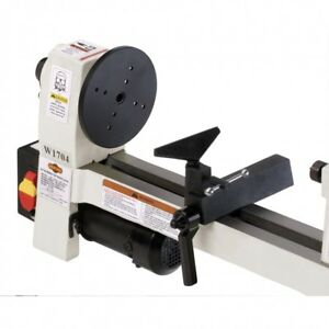 Shop Fox Benchtop Lathe Wood Turning Cutting Tools Variable Speed Machinery