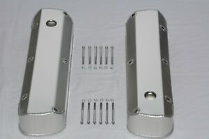 Ford 289 302 351w Fabricated Aluminum Tall Baffled Valve Covers W Holes Sbf V8