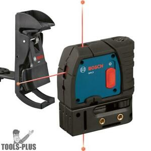 Bosch Gpl3 1x 3 point Self leveling Alignment Laser W Positioning Device New
