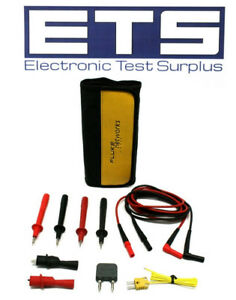 Fluke Dmm Digital Multimeter Test Probe Lead Kit Tl224 Ac120 Tp74 80ak a