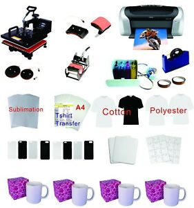 15 x15 5in1 Pro Sublimation Heat Press Epson Printer C88 Ciss Material Kit