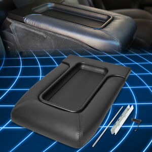 For 01 07 Silverado sierra Front Center Console Tray Lid Kit Armrest Latch Black