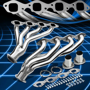 For 65 73 Chevy gm Bbc V8 366 454 Engine Pair Shorty Exhaust Header Manifold Kit