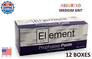 Element Prophy Paste Cups Assorted Medium 200 box Dental W flouride 12 Boxes
