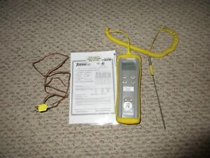 Omega Hh11b Digital Thermometer With Two Thermocouples type K