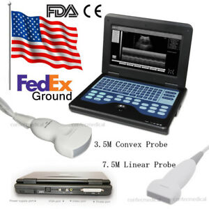 Portable Laptop Machine Digital Ultrasound Scanner linear convex 2 Probes ce