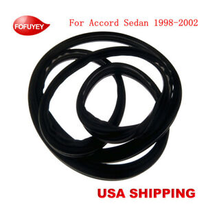 New Rear Trunk Lid Weatherstrip Rubber Seal Gasket For Accord Sedan 1998 2002