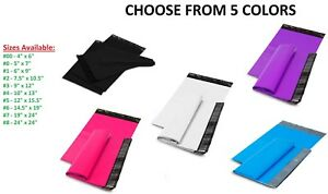 5 10 000 Shipping Envelopes Poly Mailers Plastic Mailing Bags Hot Pink Sealing